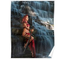 Beautiful Woman Warrior art photo print Poster