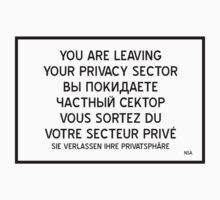 Your are leaving your Privacy Sector One Piece - Short Sleeve