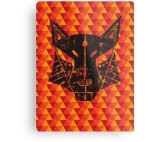 Lino Fox Metal Print