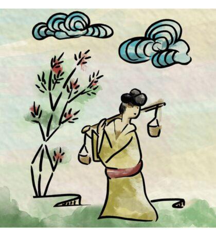 Chinese Woman 02 Sticker