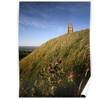 Glastonbury Tor and Thistlle Poster