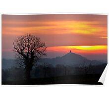 Glastonbury Tor Dawn Poster