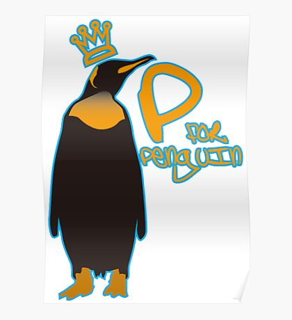 P for Penguin Poster