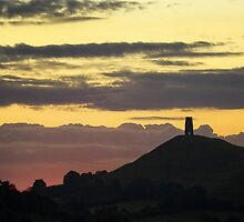 Glastonbury Tor Dawn Glow by Nick Pound