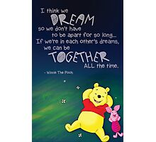 Winnie the Pooh - Dreams Photographic Print