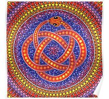 Red Ouroboros Celtic Snake Poster