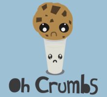 """Oh Crumbs"" - Kawaii Cookie & Milk by AlexNoir"