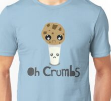 """Oh Crumbs"" - Kawaii Cookie & Milk Unisex T-Shirt"
