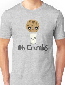 """Oh Crumbs"" - Kawaii Cookie & Milk Unisex T-Shirt"