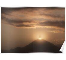 Glastonbury Tor Sunrise Poster
