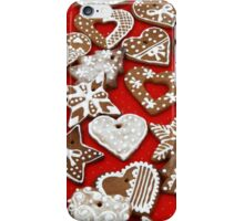 Christmas Gingerbread Cookies - Stars Hearts  iPhone Case/Skin