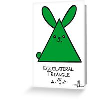 Equilateral Triangle GeoBunny Greeting Card