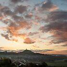 Glastonbury Dawn Panorama by Nick Pound