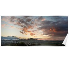 Glastonbury Dawn Panorama Poster