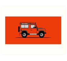 A Graphical Interpretation of the Defender 90 Station Wagon Adventure Edition Art Print