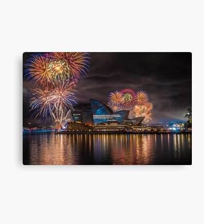 Sydney Fleet Review Canvas Print