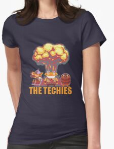 Techies Pixelated Womens Fitted T-Shirt