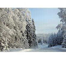 Snow Road Photographic Print
