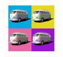 Pop Art Style Campervan Art Print