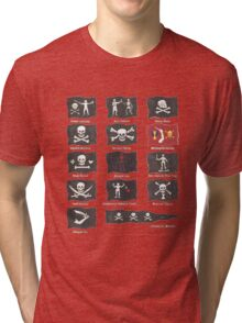 Pirate Flags Tri-blend T-Shirt