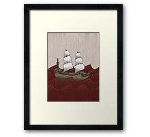 Galleon Framed Print