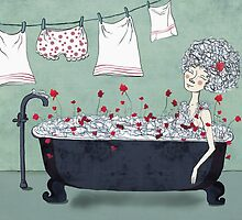 Christmas in the bath by Egle Plytnikaite