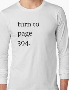 Turn to page 394 Long Sleeve T-Shirt