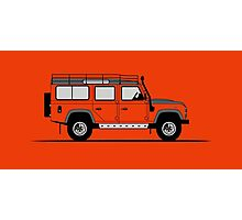 A Graphical Interpretation of the Defender 110 Station Wagon Adventure Edition Photographic Print