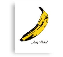 Andy Warhol Banana, RIP Lou Reed Canvas Print