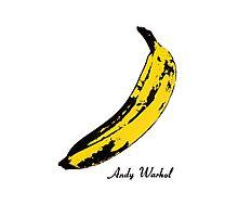 Andy Warhol Banana, RIP Lou Reed Photographic Print