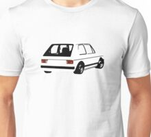 Volkswagen VW Golf Mk1 Racing Rear Unisex T-Shirt