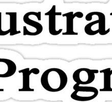 Illustrator In Progress  Sticker