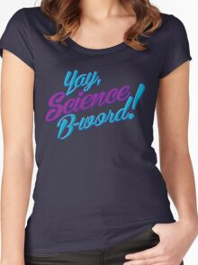 Science, B-word! Women's Fitted Scoop T-Shirt