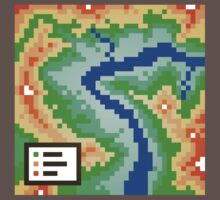 Pixel Topography Kids Clothes