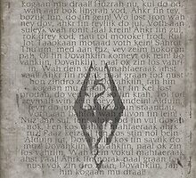 Skyrim Song Of The Dragonborn Poster by mackncheese