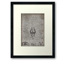 Skyrim Song Of The Dragonborn Poster Framed Print
