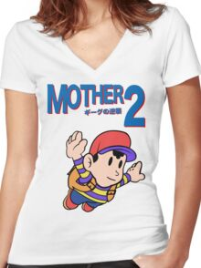 Mother 2 (SMB 3 Look-alike) Women's Fitted V-Neck T-Shirt