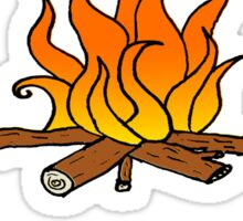 Camp-Fires are SO Hot Right Now Sticker