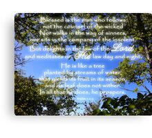 Blessed is the Man Who Follows God Canvas Print