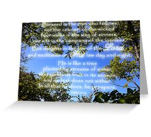Blessed is the Man Who Follows God Greeting Card