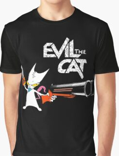 EVIL CAT Graphic T-Shirt
