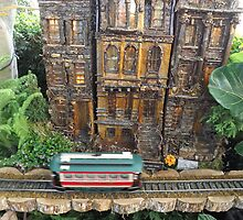 Model Trains, Model Buildings, New York Botanical Garden Holiday Train Show, Bronx, New York by lenspiro