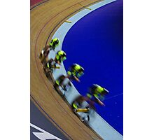 British championships track cycling  Photographic Print