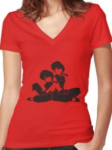 Ranma 1/2 Women's Fitted V-Neck T-Shirt