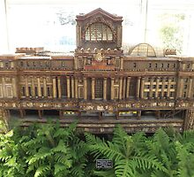 Model Original Pennsylvania Station, New York Botanical Garden Holiday Train Show, Bronx, New York  by lenspiro