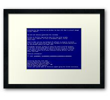 BSOD (Blue Screen Of Death) Framed Print