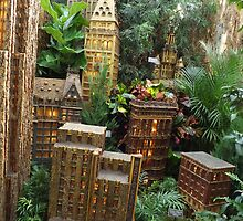 Model Radio City Music Hall, New York Botanical Garden Holiday Train Show, Bronx, New York by lenspiro