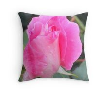 Pink Rose-Bud Throw Pillow