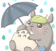 Rainy Day Totoro by LolipopLamb