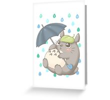 Rainy Day Totoro Greeting Card